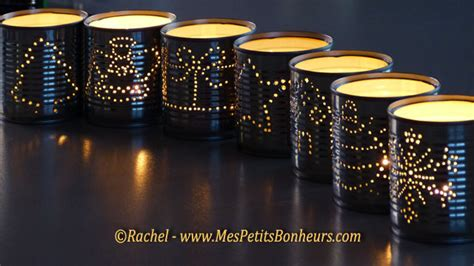 diy luminaries candle holders made from recycled tin cans