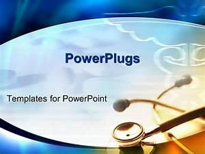 powerpoint template a stethoscope on a white colored With powerplugs templates for powerpoint