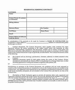 Roofing contract template 9 download documents in pdf for Roofing warranty template
