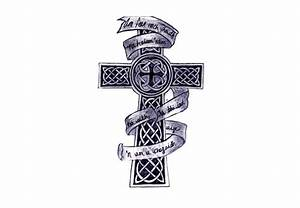 Celtic Cross With Banner Tattoo | www.pixshark.com ...