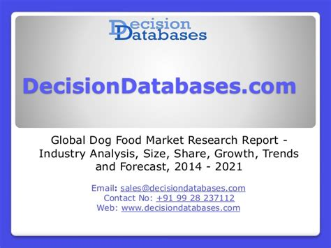 global dog food market research report