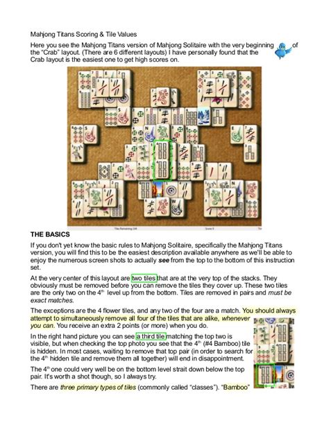 mahjong scoring tile values how to get high scores