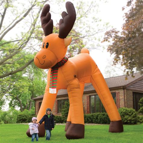 giant inflatable christmas two story reindeer the green