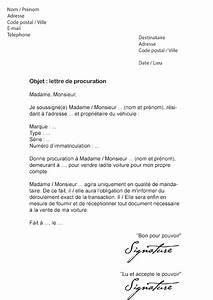 Document Pour Immatriculer Un Véhicule : lettre de procuration voiture vente d 39 un v hicule mod le de lettre ~ Gottalentnigeria.com Avis de Voitures
