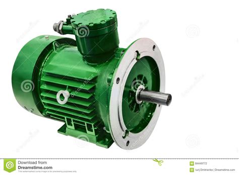 Compact Electric Motor by Modern Compact Electric Motor Closeup Isolated On White