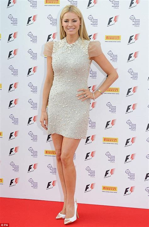 Tess Daly sparkles in beaded minidress with husband Vernon ...