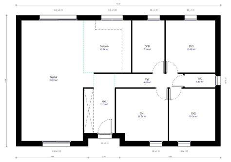 chambre a gaz plan maison individuelle 3 chambres 77 habitat concept