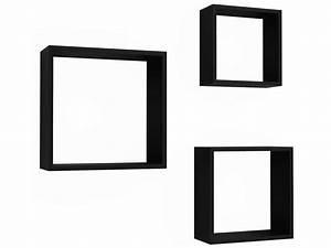 Etagere Cube Noir : set de 3 tag res murales care 3 coloris noir vente de etag re conforama ~ Teatrodelosmanantiales.com Idées de Décoration