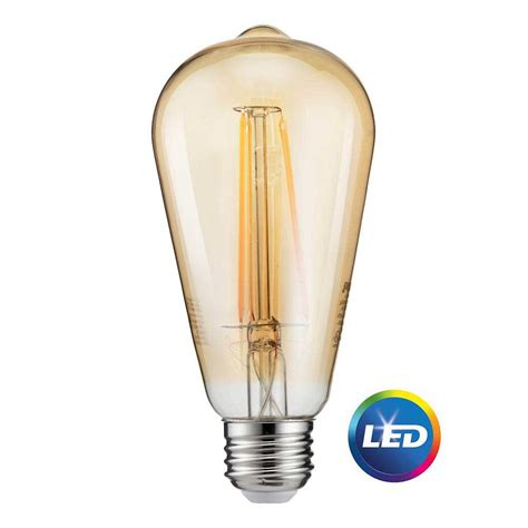 vintage led light bulbs philips 40w equivalent soft white st19 dimmable led