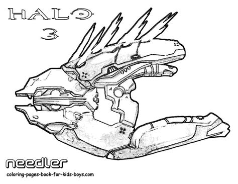 halo 5 coloring pages classic halo 3 coloring needler weapon halo 5 4 3