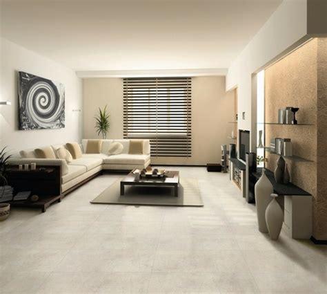 salon avec carrelage beige