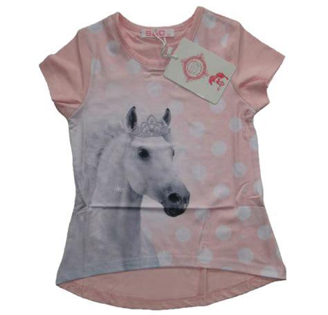 maedchen  shirt mit pferde motiv guenstige kindermode