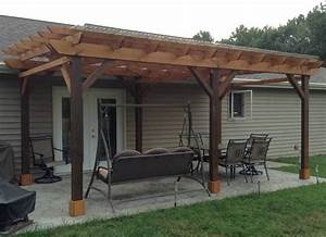 Details About Covered Pergola Plans Design  Diy How To