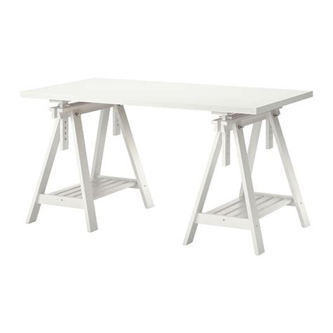 Ikea Desk Legs Uk by Linnmon Finnvard Table Blanc Ikea