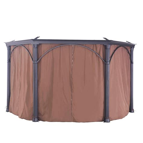 sunjoy universal curtain for hexagonal gazebos 110109002