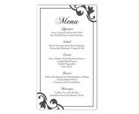 modele menu mariage wedding menu template diy menu card template editable text word file instant black menu
