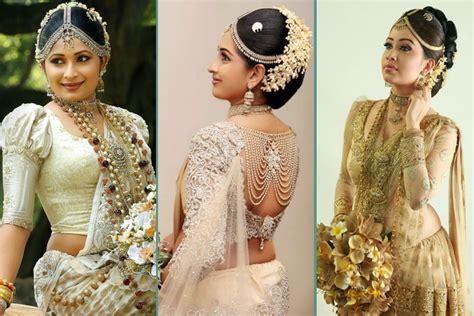 gorgeous pics  sri lankan wedding saree blouse designs