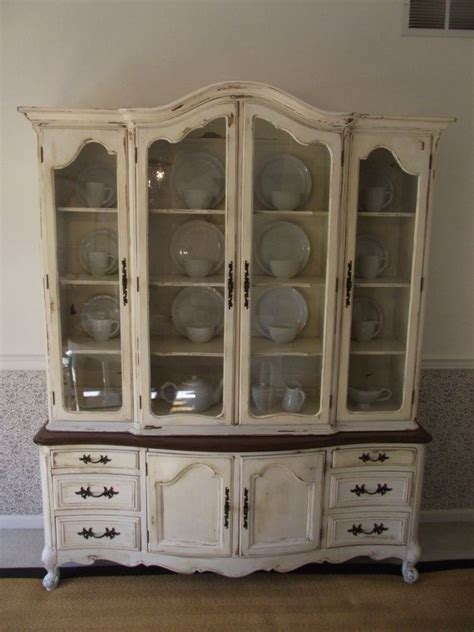 refinished china cabinet great idea to refinish a dated china cabinet i like the
