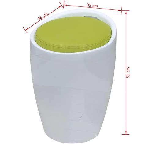 acheter tabouret abs rond blanc avec siege amovible vert