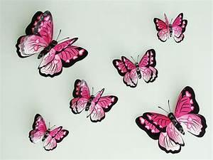 3d Schmetterlinge Wand : 6er set 3d schmetterlinge wanddeko wandtattoo wandaufkleber 7 farben neuheit ebay ~ Whattoseeinmadrid.com Haus und Dekorationen