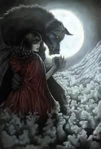 Little Red Riding Hood and Wolf Painting