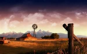 Old Farm Scene Wallpapers - WallpaperSafari