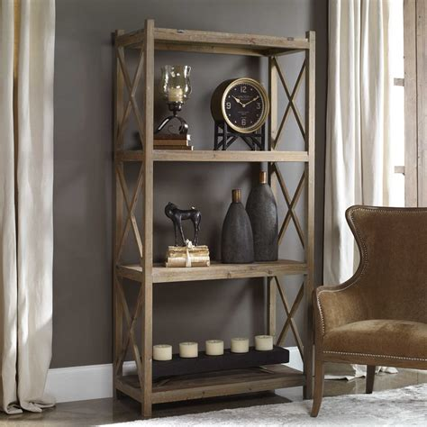 Wood Etagere by Uttermost Stratford Reclaimed Wood Etagere