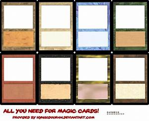 magic cards templates by hyakkidour4n on deviantart With mtg proxy template