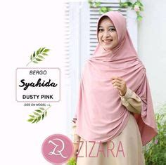 zizara khalifa dusty pink bahan crepe yang nyaman dengan kualitas terbaik pashmina instant syar i one and