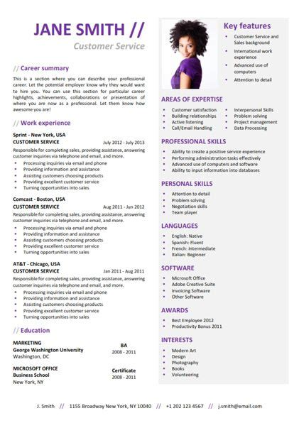 Where To Find Resume Templates by Find The Purple Functional Resume Template On Www Cvfolio