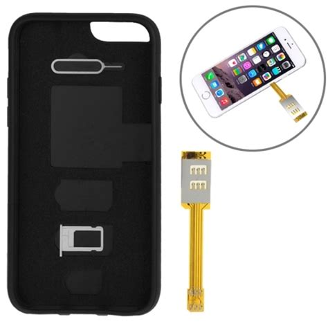 sim free iphone 6 kumishi dual sim card adapter with a back cover for