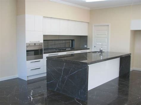 tiled benchtop kitchen polished pietra grey marble benchtop and honed pietra grey 2780
