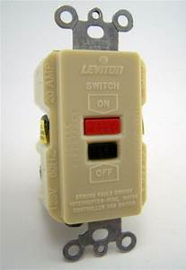 Leviton Faceless Gfci Receptacle Switch 6490