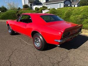 1967 Chevrolet Camaro Real Rs  Ss Red 350ci 4  Speed Western