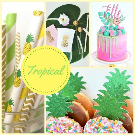 Tropical Baby Shower Theme Collection  Baby Shower Ideas