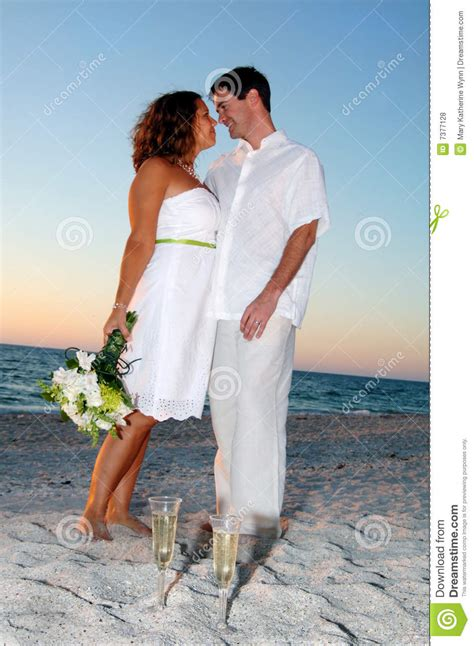 tropical beach wedding couple royalty  stock