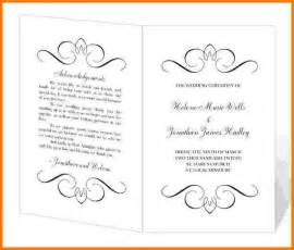 8 free printable wedding program templates card