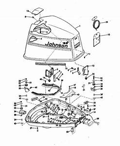 Johnson Motor Cover Parts For 1974 85hp 85esl74b Outboard