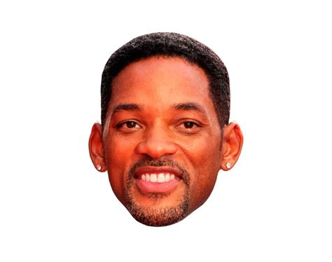 Will Smith Vip Celebrity Cardboard Cutout Face Mask