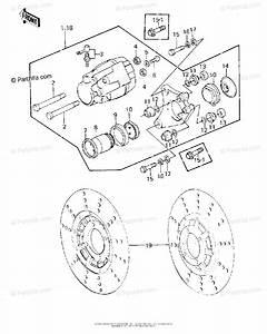 Kawasaki Motorcycle 1978 Oem Parts Diagram For Front Brake