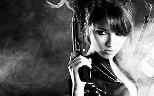 Women sexy weapons weapon gun brunette military guns gun ...