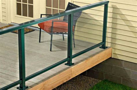 Decking Handrail Brackets by How To Install A Composite Railing Home Improvement And