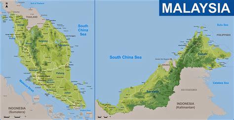 malaysia   map malaysia track