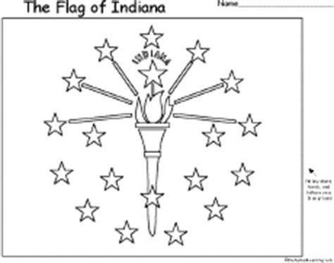 Indiana State Flag Coloring Page Eskayalitim