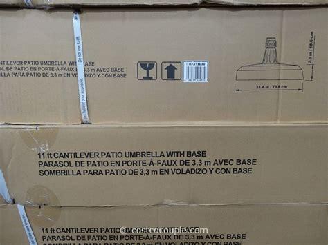 foot parisol cantilever umbrella