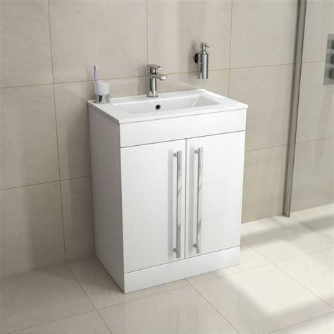 odessa white floor mounted  door unit basin