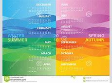 Season calendar 2010 stock vector Image of november