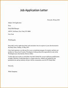 sample application letter for job applyreference letters With job mailing letters from home