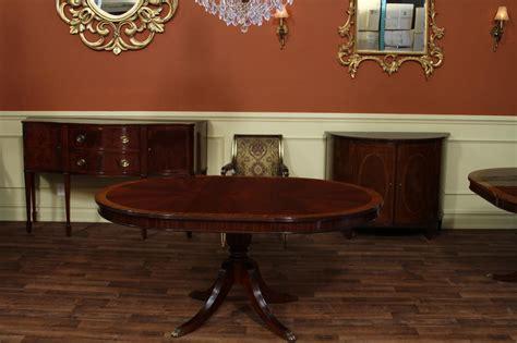 mahogany dining table  leaf  leg reeded pedestal dining room ebay