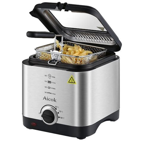 fryer deep mini oil fat electric french capacity fries machine smart aicok fryers freidora litros appliances 5l desde guardado